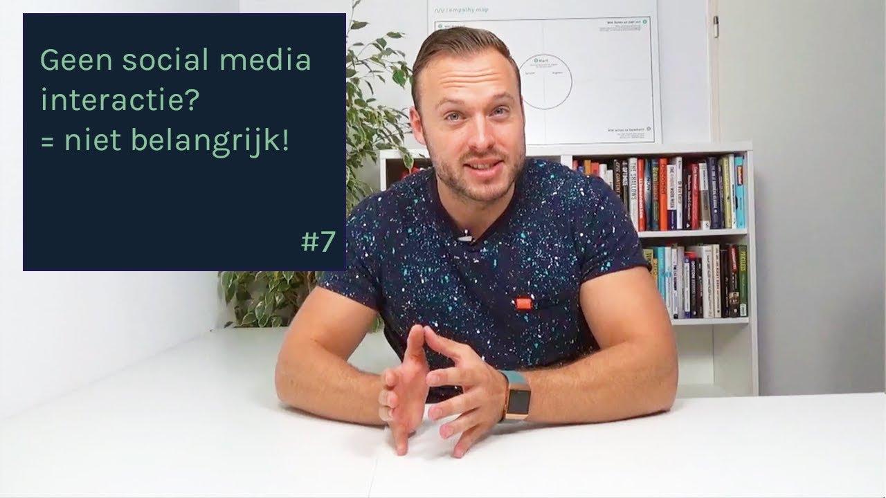 Geen social media interactie? = niet belangrijk! – Online Marketing Tips & Trends #7